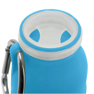 Bubi 35 Oz Collapsible Eco Silicone Water Bottle - Pacific Blue