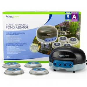 Aquascape 75001 Pond Air 4 Outlet Pond Aeration Kit - Up To 3,500 Gal Pond
