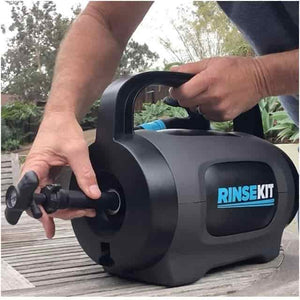 RinseKit Pod Portable Pressurized Shower System With Faucet Adapter