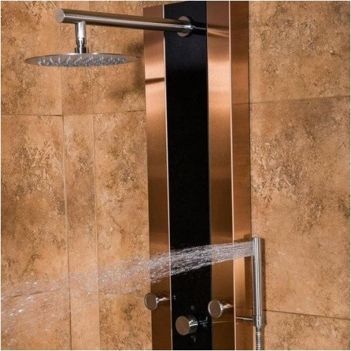 Charmant PULSE ShowerSpas 1049B BN Rio ShowerSpa Bronze Stainless Steel Black Glass  Shower Panel