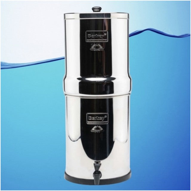 Royal Berkey Gravity Fed Stainless Steel Water Filter Purifier With 2 Black Berkey Filters