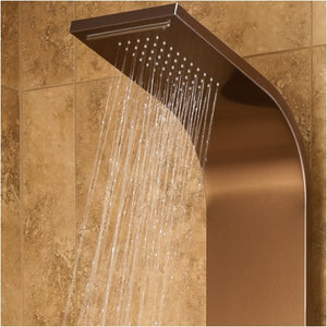 PULSE ShowerSpas 1033 Santa Cruz ShowerSpa Stainless Steel Bronze Shower Panel