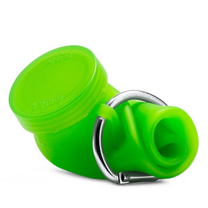 Bubi 35 Oz Collapsible Eco Silicone Water Bottle With Straw Lid - Seaweed Green