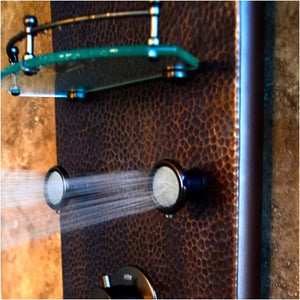 PULSE ShowerSpas 1041 Sedona ShowerSpa Hammered Copper ORB Shower Panel