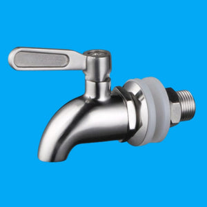 "Stainless Steel Lever Spigot For Gravity Filters, Water Dispensers, Beverage Dispensers - 5/8"" / 16 mm"