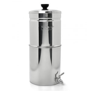 Propur Traveler Plus Polished Stainless Gravity Fed Fluoride Water Filter Purifier With (1) 5 Inch ProOne G2.0 Filter