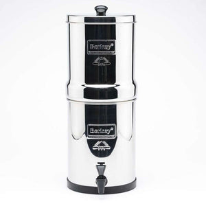 Travel Berkey Gravity Fed Stainless Steel Water Filter Purifier With 2 Black Berkey Filters