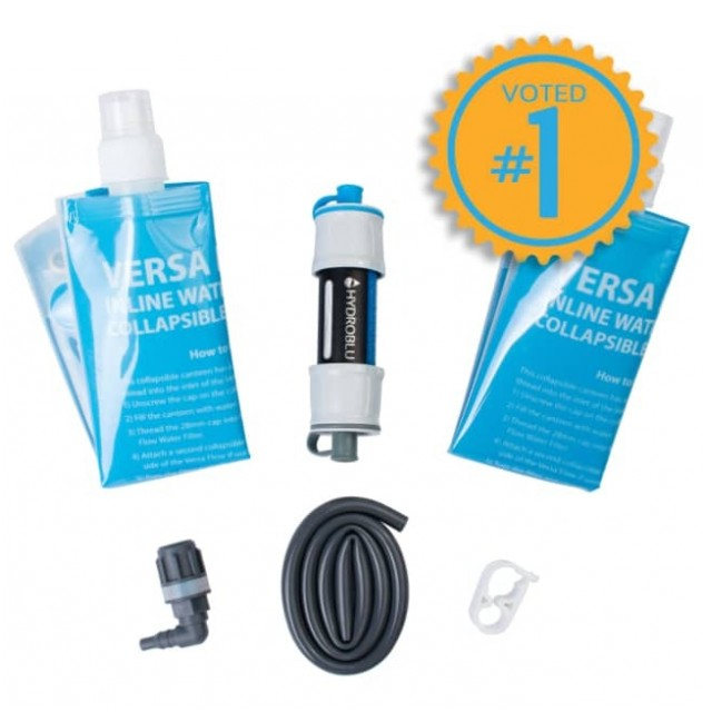 HydroBlu Versa Flow Ultralight Camping Water Filter Package