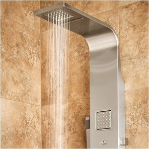 PULSE ShowerSpas 1034 Waimea ShowerSpa Matte Brushed Stainless Steel Shower Panel