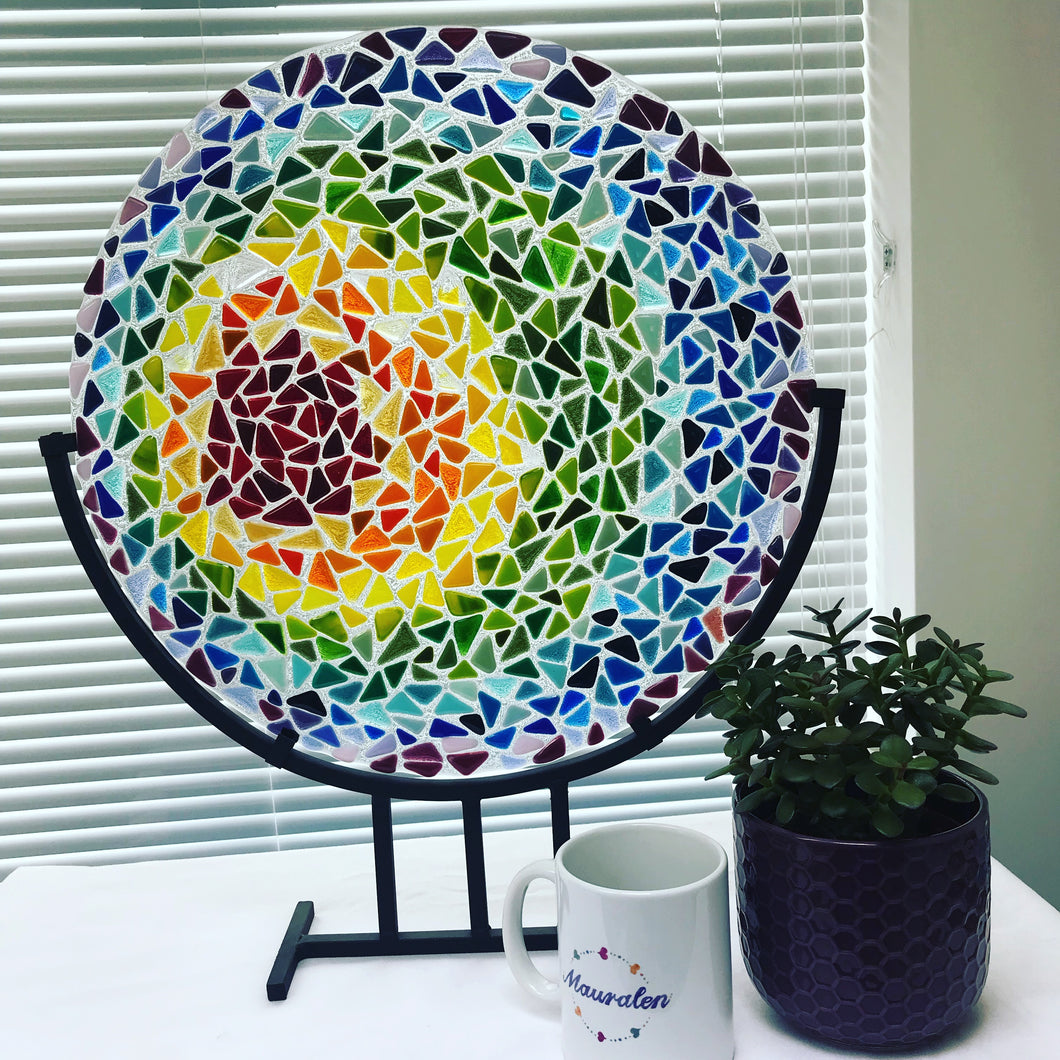 freestanding large glass art
