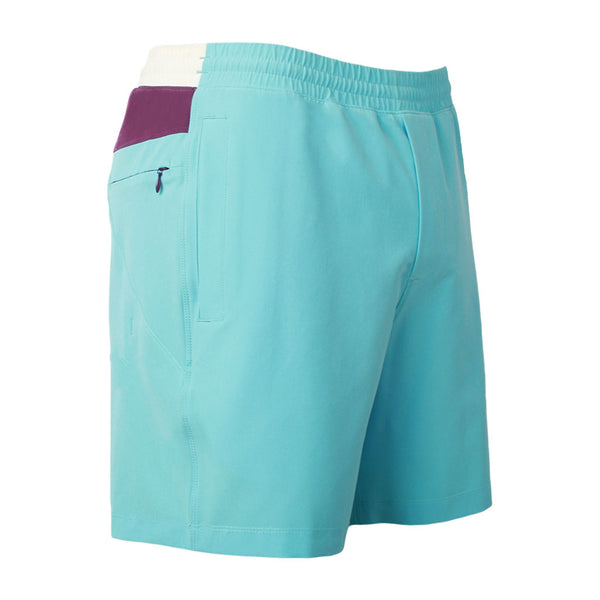 Birddogs The April Big Cannons Blue Purple White Gym Shorts Purple Liner Front Right Hip
