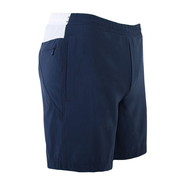 Birddogs Billy Budds Navy White Gym Shorts Navy Liner Front Right Hip