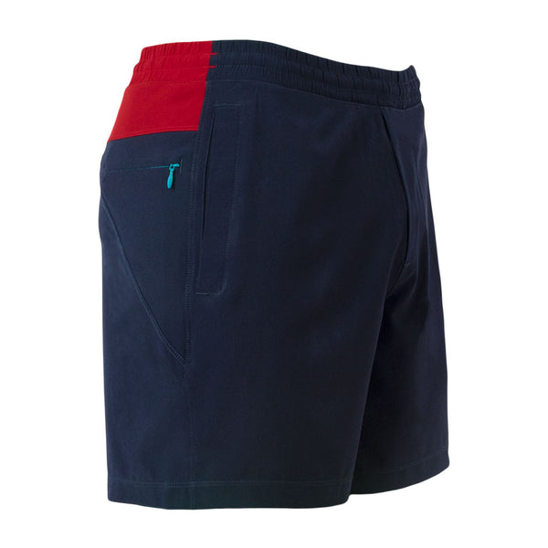 Birddogs Cape Cod Cuddlers Navy Red Gym Shorts Turquoise Liner Front Right Hip