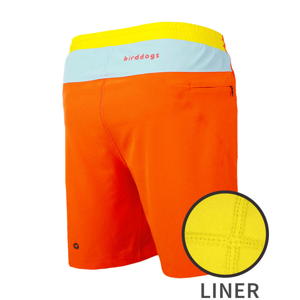 Birddogs The Creamsicles Orange Blue Yellow Gym Shorts Yellow Liner Main Preorder