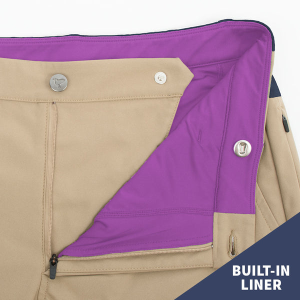 Birddogs The Bi-Curious Georges Khaki Navy Gym Pants Purple Liner Built In LinerBirddogs The Bi-Curious Georges Khaki Navy Gym Pants Purple Liner Button Built-In Liner