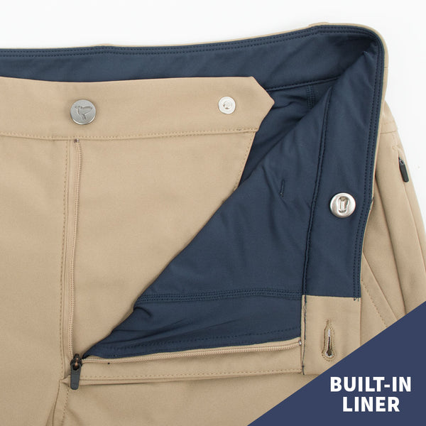Birddogs Jim Jordashians Khaki Gym Pants Navy Liner Button Built-In Liner