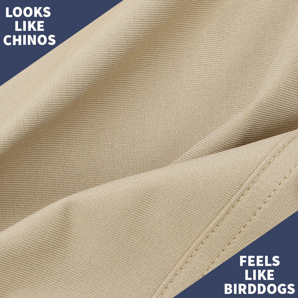 Birddogs Long John Silvers Khaki Navy Gym Pants Purple Liner Fabric Chino Khaki