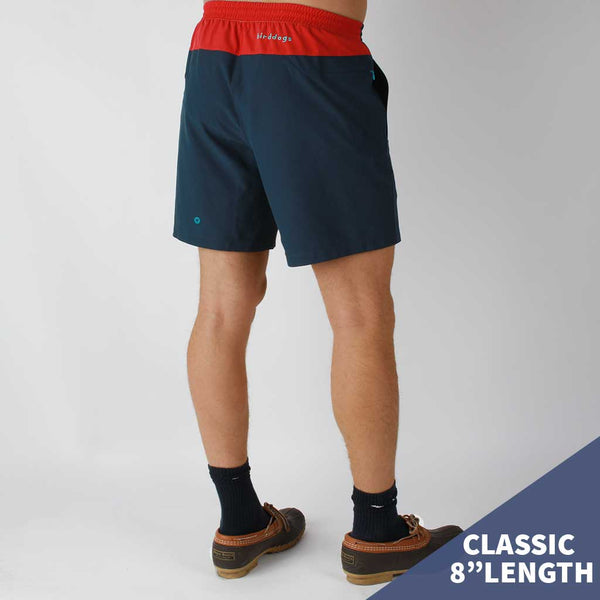 "Birddogs Cape Cod Cuddlers Navy Red Gym Shorts Turquoise Liner Model Size Medium Classic 8"" Preorder"