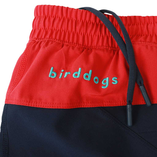 Birddogs Cape Cod Cuddlers Navy Red Gym Shorts Turquoise Liner Waistband Preorder