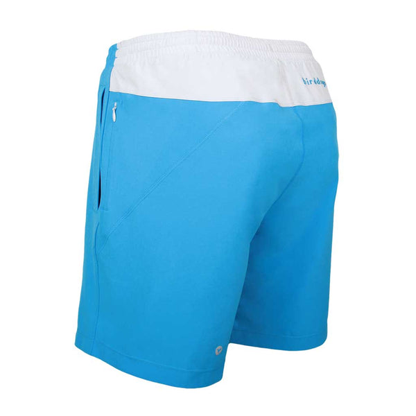 Birddogs Captain Ahabs Blue Gym Shorts Light Gray Liner Back Left Angle