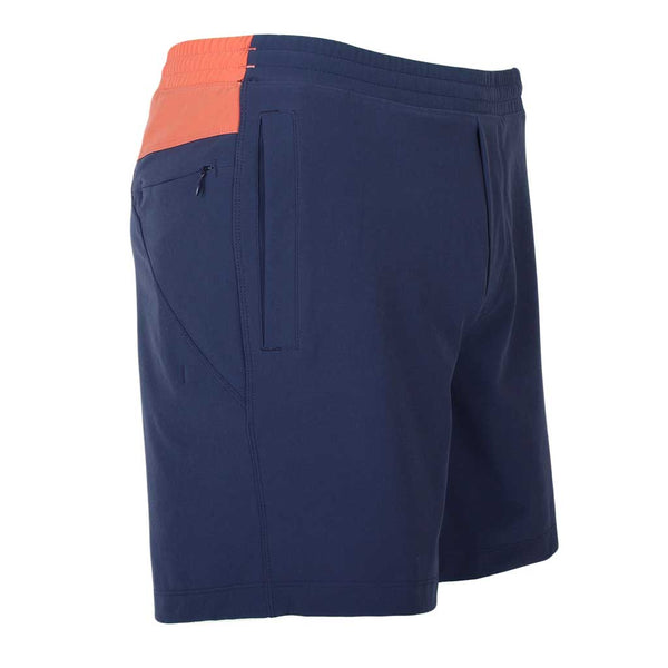 Birddogs Chester Copperpotts Navy Gym Shorts Coral Liner Front Right Angle