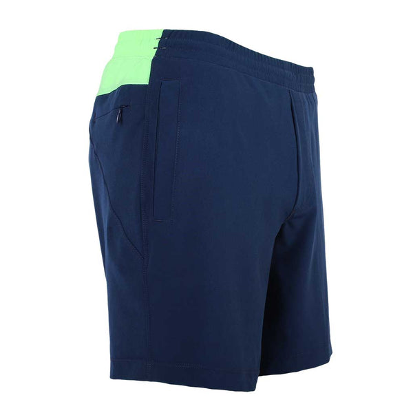 Birddogs English Longhorns Navy Gym Shorts Mint Green Liner Front Right Angle