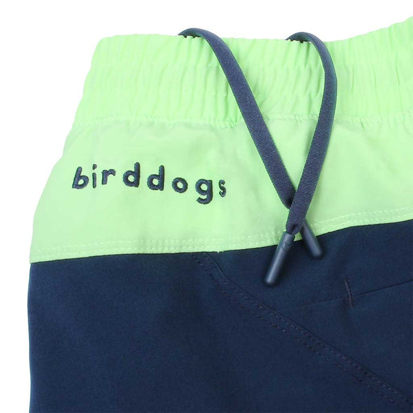 Birddogs English Longhorns Navy Gym Shorts Mint Green Liner Waistband