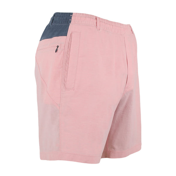 Birddogs Fluffers Pink Navy Oxford Gym Shorts Navy Liner Front Right Hip