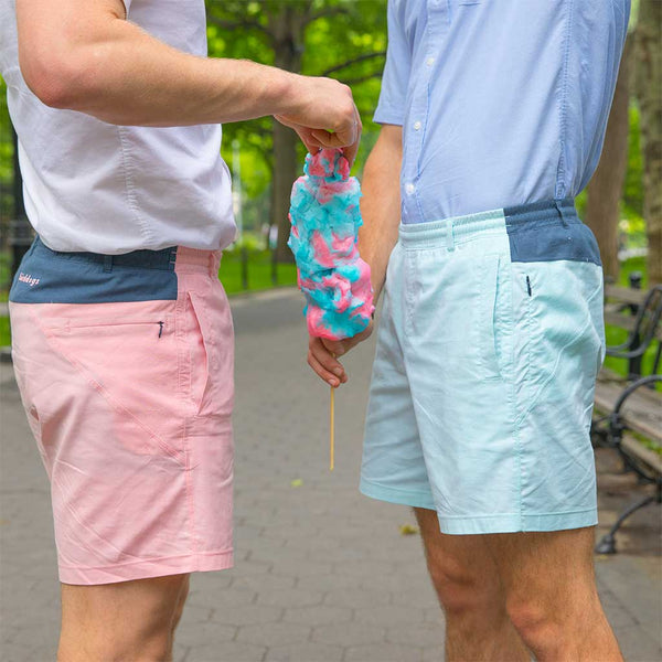 Birddogs Fluffers Pink Navy Oxford Gym Shorts Navy Liner Lifestyle Cotton Candy