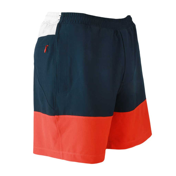 Birddogs Four Score Drawers Red White Blue Gym Shorts Red Liner Front Right Angle