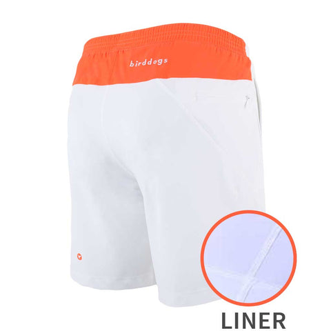 Birddogs Fruit Cups White Orange Gym Shorts White Liner MAIN