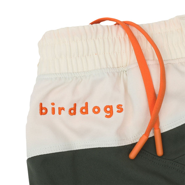 Birddogs Great Indoorsman Khaki Green White Gym Shorts Orange Liner Waistband Preorder