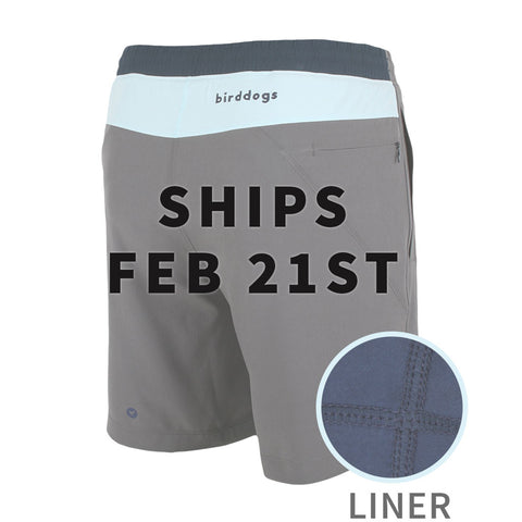 Birddogs The Icemans Grey Light Blue Navy Gym Shorts Navy Liner Main Preorder Date