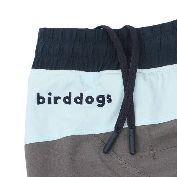 Birddogs The Icemans Grey Light Blue Navy Gym Shorts Navy Liner Waistband Preorder
