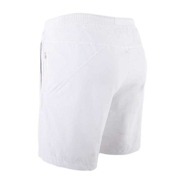 Birddogs La Flama Blanca White Gym Shorts White Liner Back Left Angle