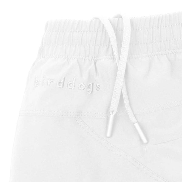 Birddogs La Flama Blanca White Gym Shorts White Liner Waistband