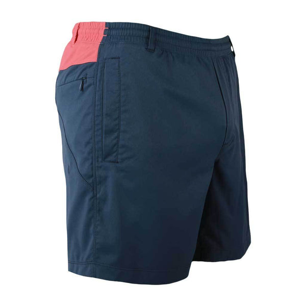 Birddogs Low Fives Khaki Navy Khaki Salmon Gym Shorts Navy Liner Front Right Angle