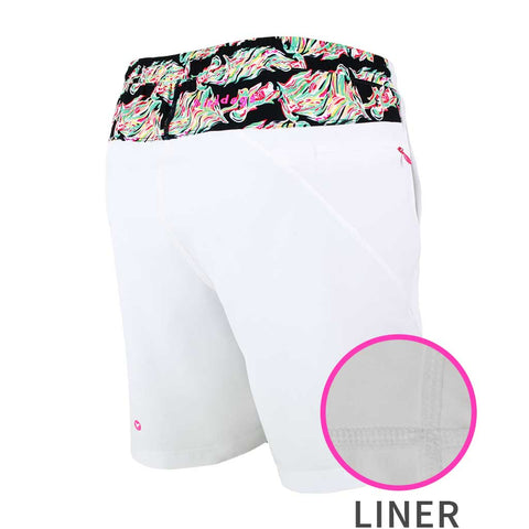 Birddogs Mahalo F**k Daddys White Floral Lava Print Gym Shorts White Liner Main