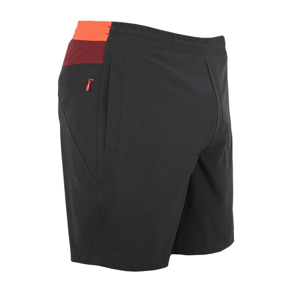 Birddogs Medium Rares Black Red Orange Gym Shorts Red Liner Front Right Angle