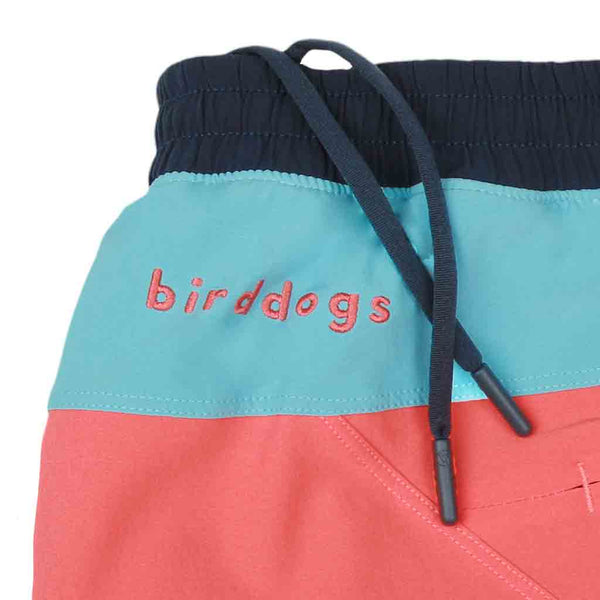 Gym Shorts Milhouses Coral Orange Light Blue Birddogs Navy Liner Waistband
