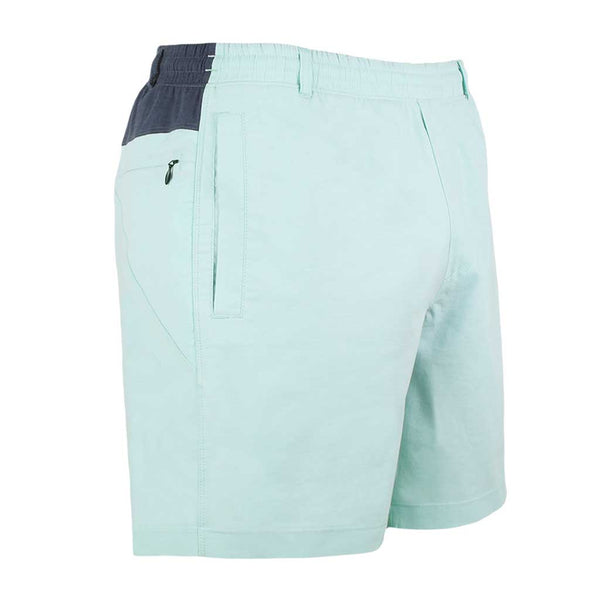 Birddogs Minty Juleps Turquoise Navy Oxford Gym Shorts Navy Liner Front Right Angle