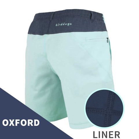 Birddogs Minty Juleps Turquoise Navy Oxford Gym Shorts Navy Liner Main