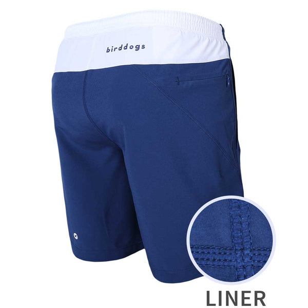 Birddogs Schooners Royal Navy White Gym Shorts Royal Navy Liner Main