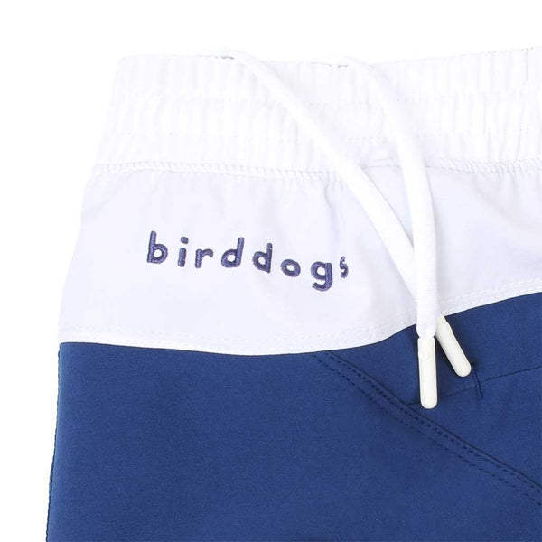 Birddogs Schooners Royal Navy White Gym Shorts Royal Navy Liner Waistband