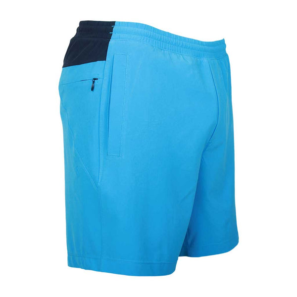 Birddogs Soggy Dollars Blue Gym Shorts Navy Liner Front Right Angle
