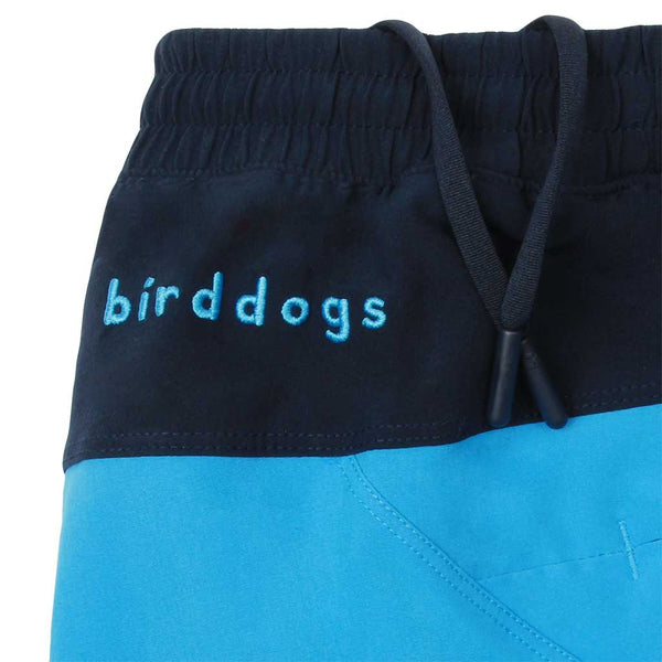 Birddogs Soggy Dollars Blue Gym Shorts Navy Liner Waistband