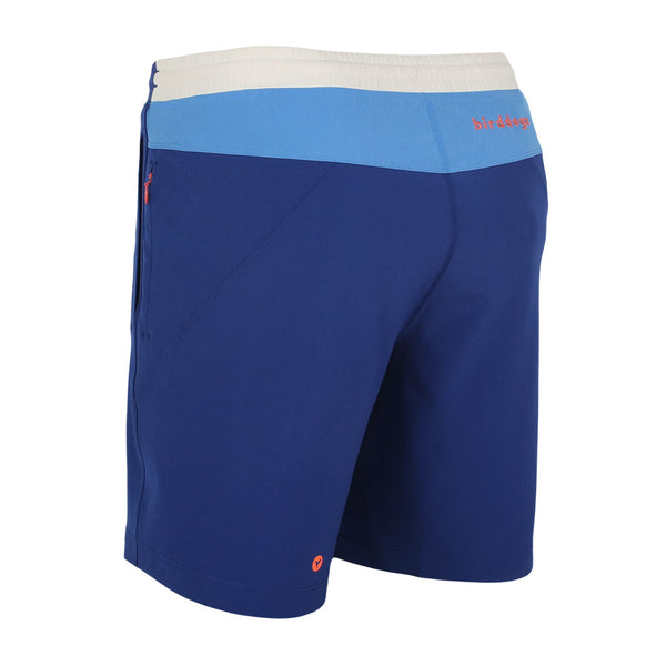Birddogs The 1 Start Reviews Navy Blue White Gym Shorts Orange Liner Back Left Angle Preorder