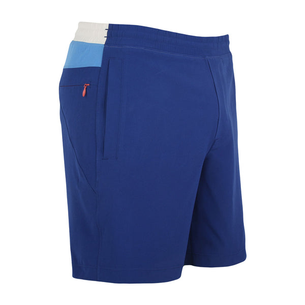 Birddogs The 1 Start Reviews Navy Blue White Gym Shorts Orange Liner Front Right Angle Preorder