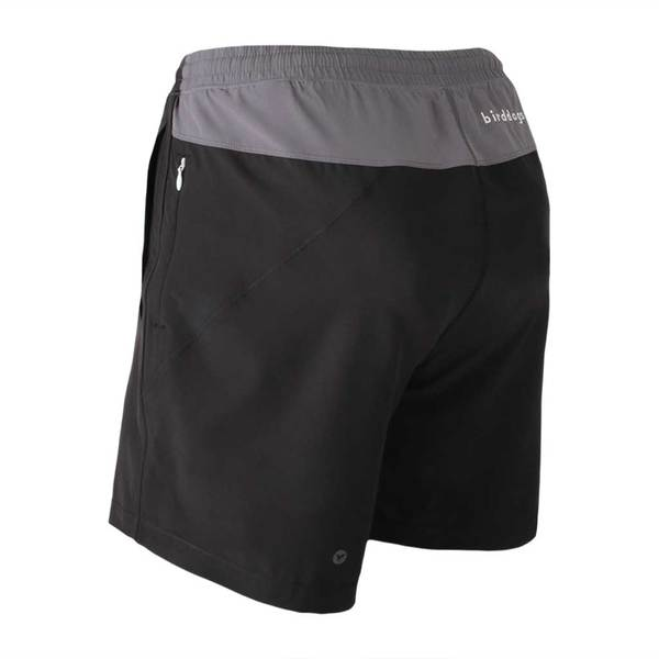Birddogs The Duster Black Gray Gym Shorts Gray Liner Back Left Angle Preorder
