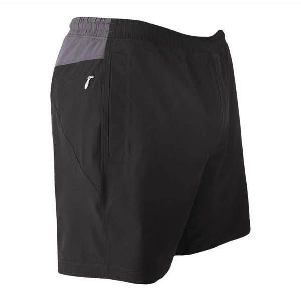 Birddogs The Duster Black Gray Gym Shorts Gray Liner Front Right Angle Preorder
